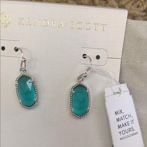NWT Kendra Scott Lee Earrings London Blue